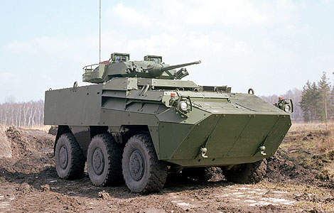 The baseline version of the Pandur II is an infantry 6x6 armoured personnel carrier.