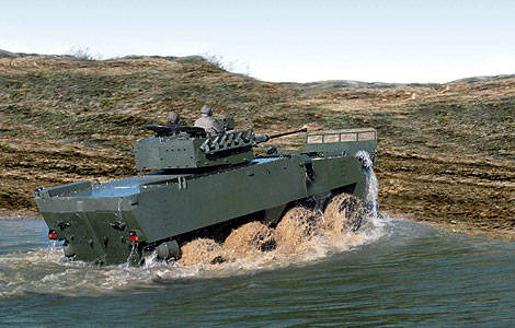 The Pandur II can ford to a depth of 1.5m.