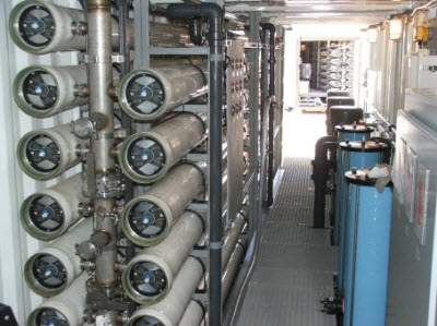 desalination and water purification units