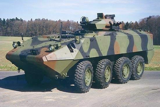 Piranha III 8X8 vehicle with surveillance turret