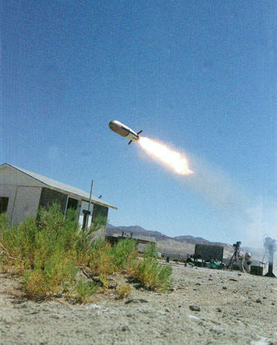 The missile is armed with an explosively formed penetrator warhead which can penetrate explosive reactive armour (ERA).