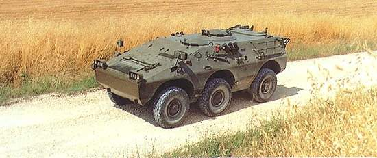 The Puma 6x6 carries 8 troops plus driver and has a combat weight of 7.5t.