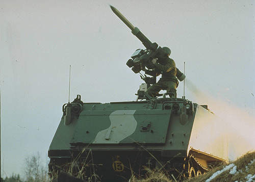 The RBS 70 VLM (vehicle-launched missile).