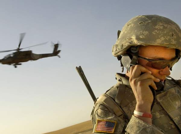 US soldier communications