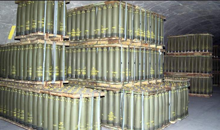 Conventional ammunition holding