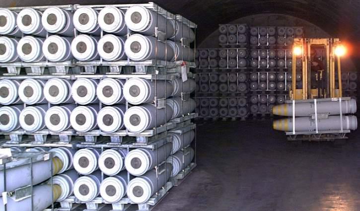 Explosive storage capacity