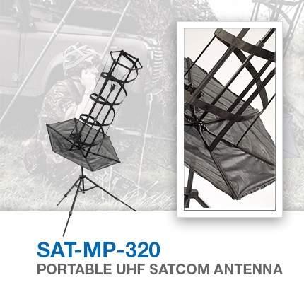 SAT-MP-320 portable uhf satcom antenna