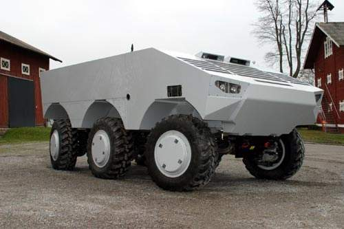 electric driven SEP armoured vehicle