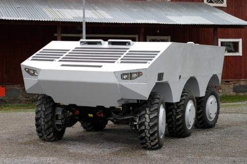 SEP armoured vehicle with low environmental impact