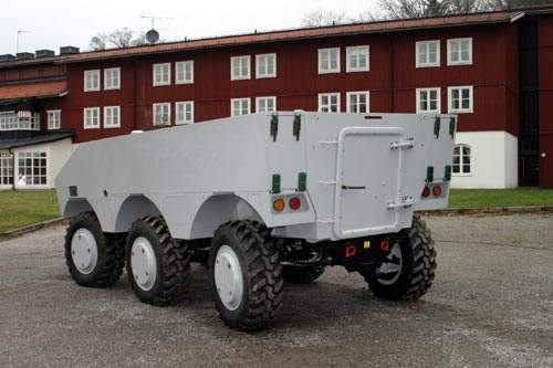 Rear entrance of the SEP armoured military vehicle
