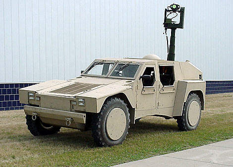 The Shadow Reconnaissance, Surveillance Targeting Vehicle (RST-V).