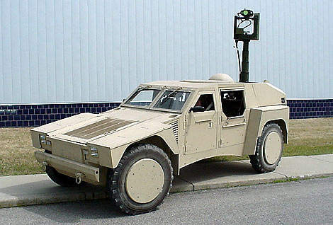Large wheel based military vehicle