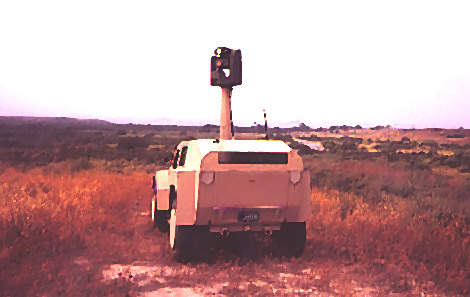 Armable Shadow RST-V military vehicle seen from the rear
