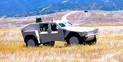 Shadow RST military vehicle operating in stealth mode