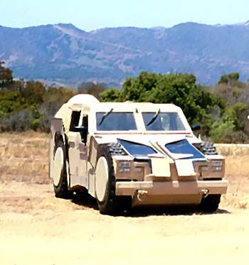 The RST-V prepared for transportation. Unlike the HMMWV, the RST-V can be transported internally in a V-22 Osprey tiltrotor aircraft.