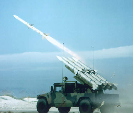 CLAWS (HUMRAAM) missile system launching a defence missile