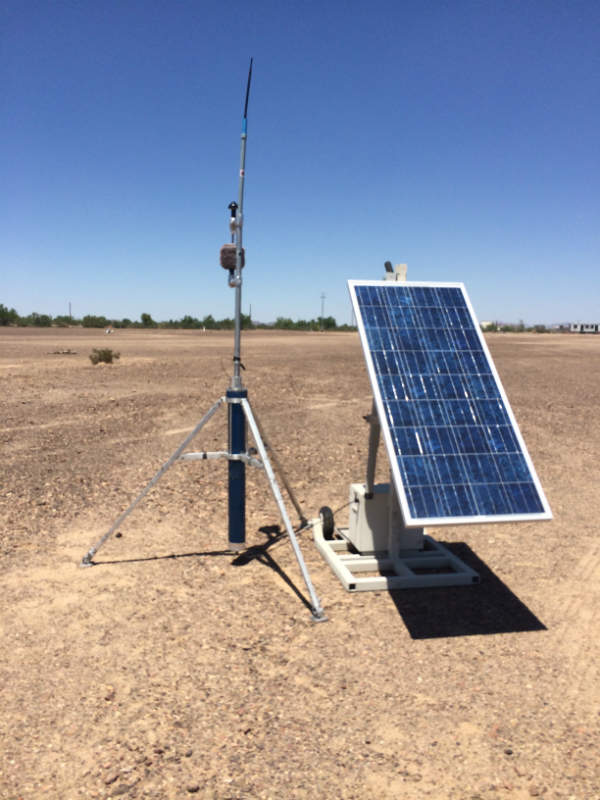 TRACS Sensor with Solar Panel