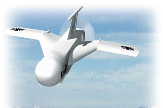 Computer generated image of the TARES UAV in flight
