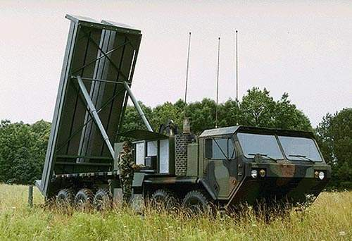 The THAAD battery typically operates nine launch vehicles each carrying eight missiles, with two mobile tactical operations centers (TOCs) and a ground-based radar (GBR).