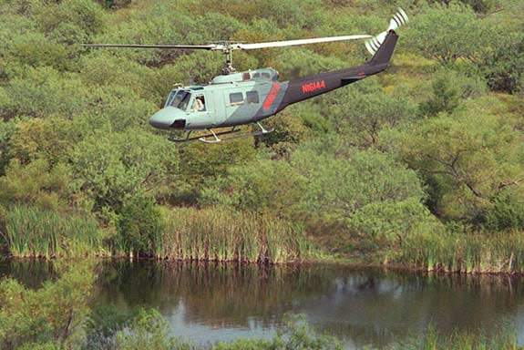 The UH-1N helicopter has been in service since 1971.
