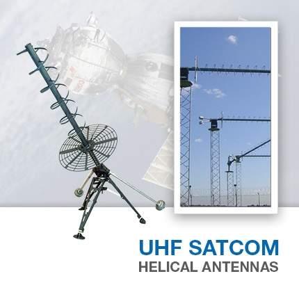 UHFSATCOM Helical Antennas
