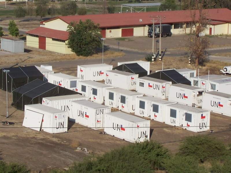UN fast deployment camp in Chile
