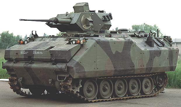 The VBCI infantry fighting vehicle is fitted with the one-man Dragar turret armed with a stabilised 25mm Nato gun.