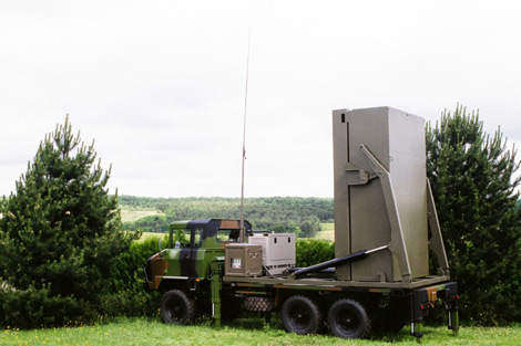 The vertical launch Mica short-range air defence system.
