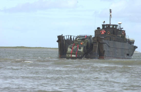Viking disembarks from the LCU mk9.