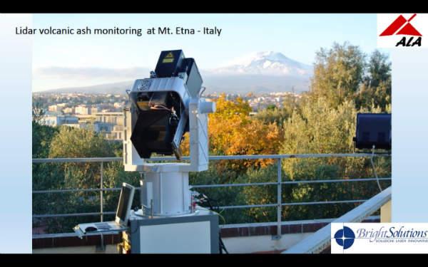 Volcanic ash monitoring at Mount Etna.