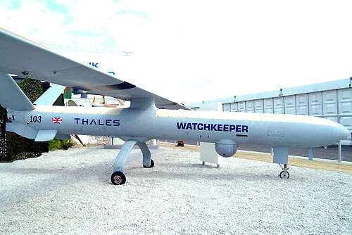 Watchkeeper on display at the Farnborough Air Show in July 2004.