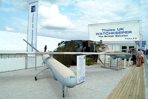 Thales Watchkeeper on display at an air show