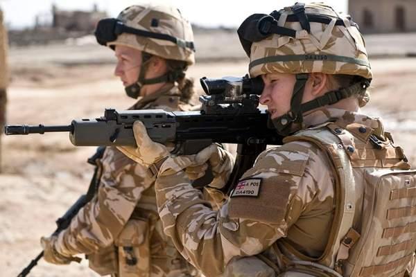 Women combat troops
