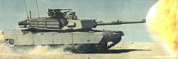 Abrams M1A1 main battle tanks deployed in the Gulf.