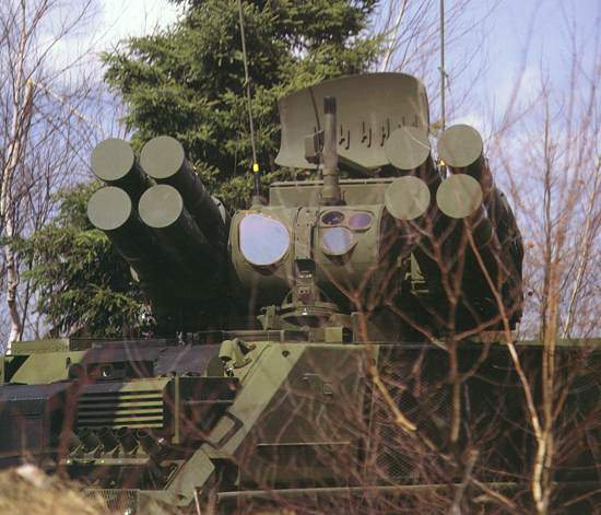 The ADATS low level air defence system features lethality at 10km