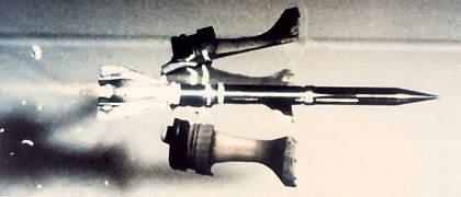 Slow motion shot armour piercing round in flight
