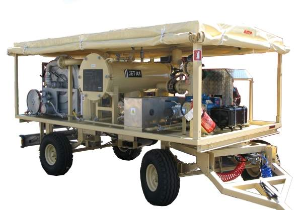 Trailer mounted aviation fuel filtration