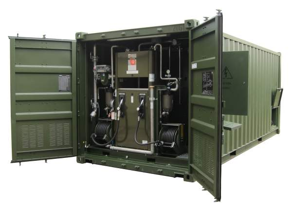 Containerised storage and dispensing system