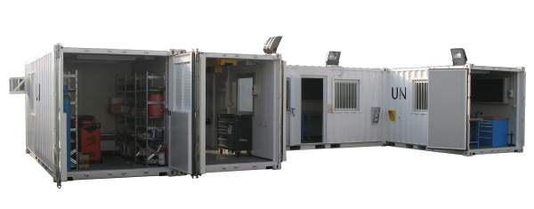 Modular workshop container