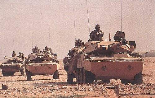 The AMX 10RC with the TK 105 turret was used extensively during Operation Desert Storm.