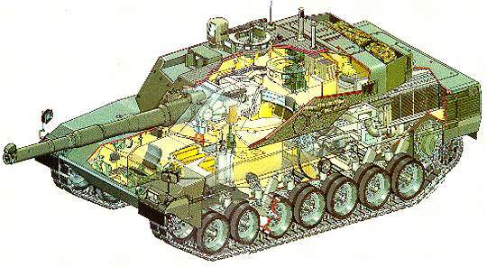 3D schematic of the Ariete MBT