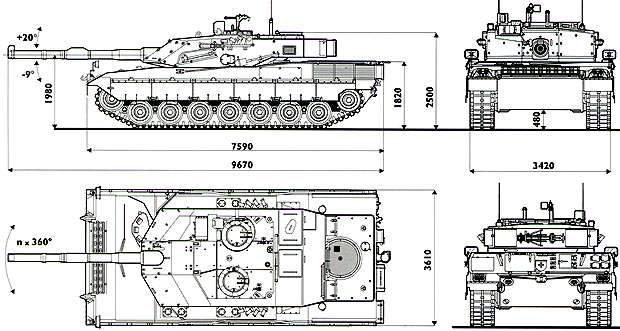 Ariete Main Battle Tank Drawing Designs