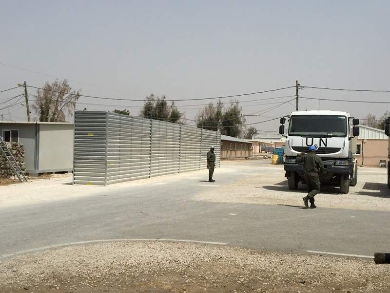 army base with steel wall structure