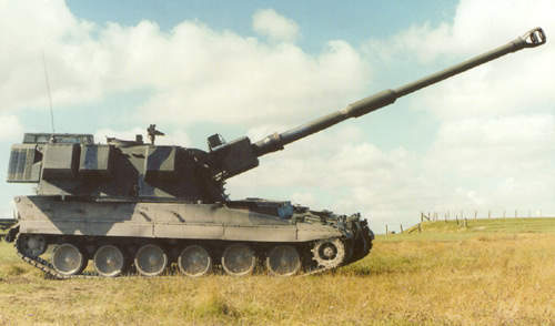 The AS90 Braveheart is the latest 52 calibre version of the British Army's 155mm AS90 self propelled howitzer.