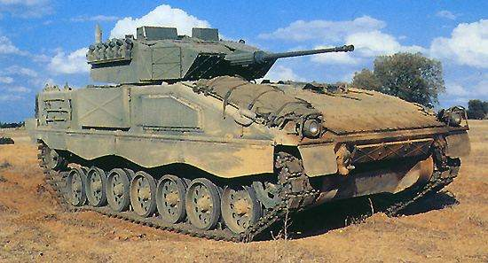 The ASCOD armoured infantry fighting vehicle AIFV variant.