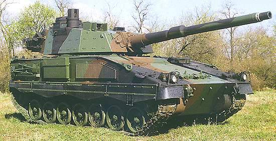 The ASCOD 105 light tank LT 105 variant.