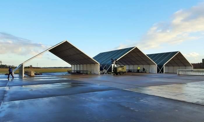 asian military hangar