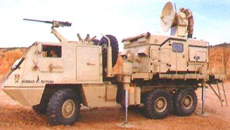 The optional electronic fire control unit (AV-UCF) – its task is to facilitate the procedures of fire direction using radar and computer.