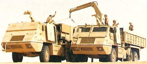 The ammunition supply vehicle (AV-RMD) for resupply of the AV-LMU carrying two complete loads for each launcher.