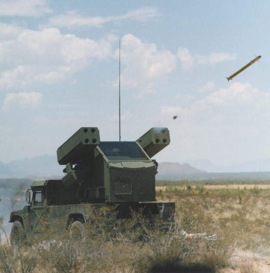 Around 800 Avenger air defence systems are in service with the US Army.